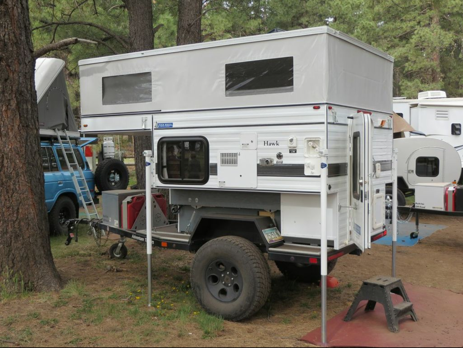 FWC Hawk on offroad trailer at 2014 Overland Expo  | Bug Out
