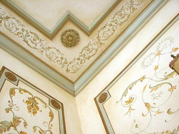 Versailles grenze elegante franz sische dekor schablone for Elegante wandbilder
