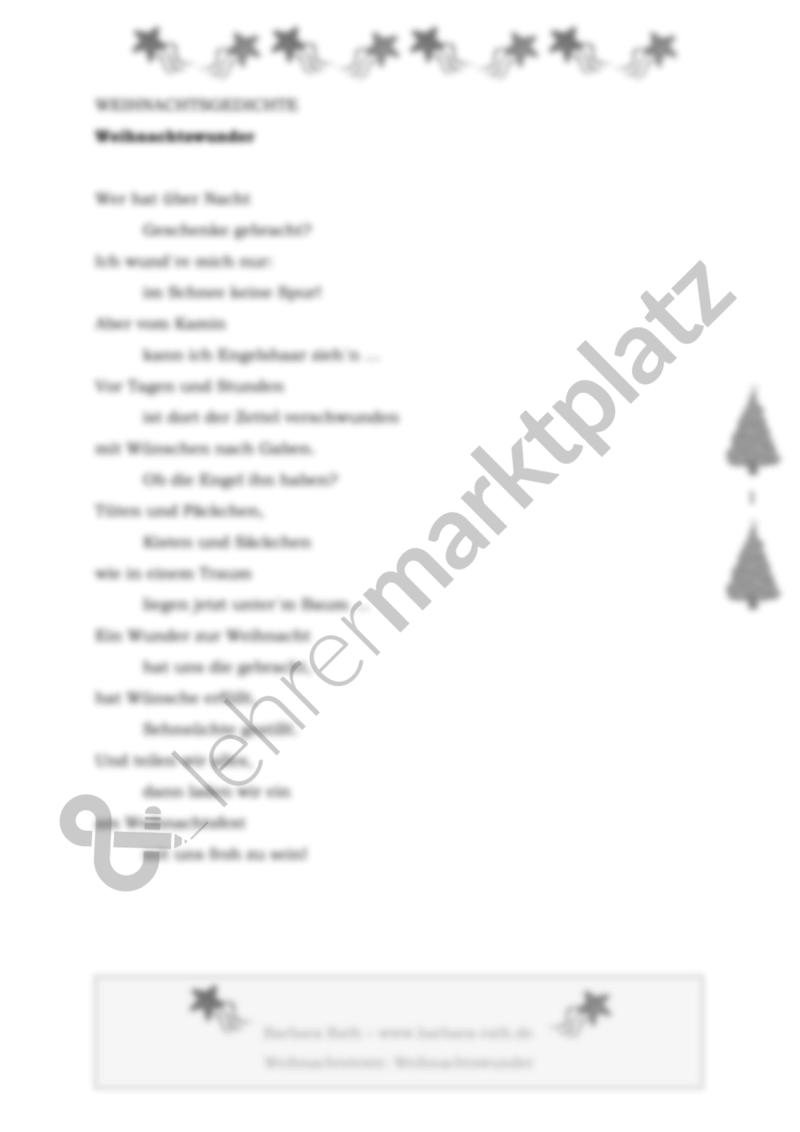Weihnachtswunder - ein Gedicht zu Weihnachten – Deutsch, Lehreralltag