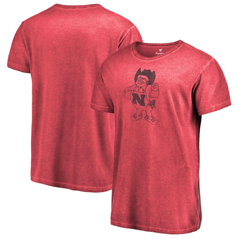 Men S Fanatics Branded Scarlet Nebraska Cornhuskers College Vault Primary Logo Shadow Washed T Shirt Cornhuskers Nebraska Cornhuskers Shirts [ 1500 x 1500 Pixel ]