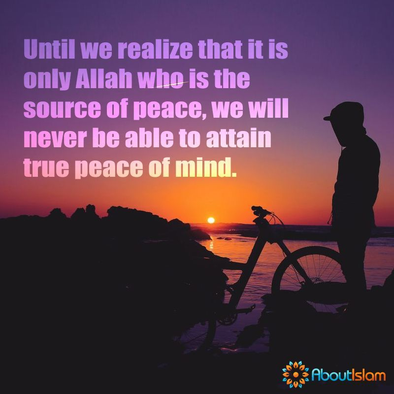 Want Peace Seek Allah Allah Islam Quotes Islamic Quotes