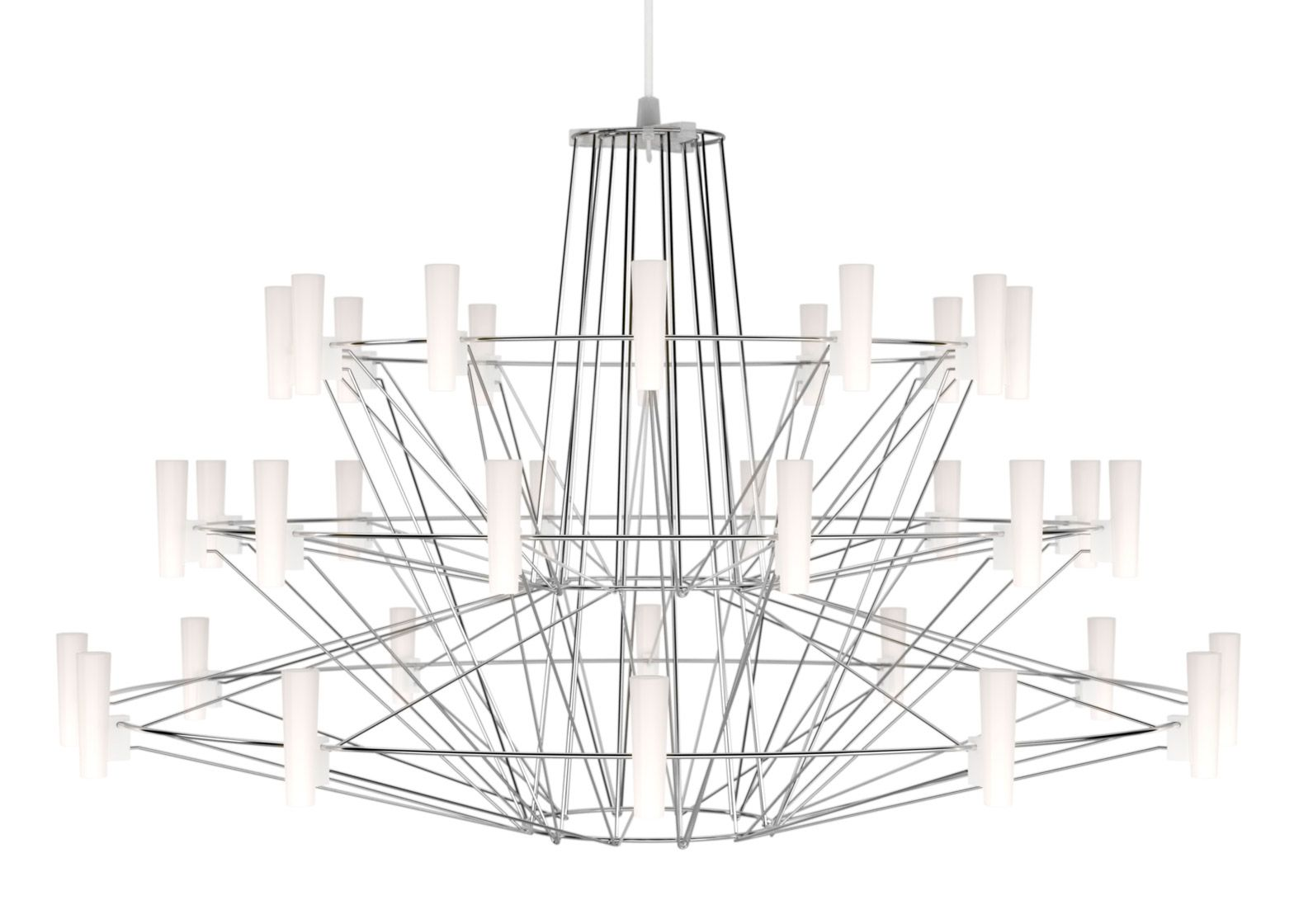 Miyake S Coppelia Light For Moooi Is A Three Tiered Wire