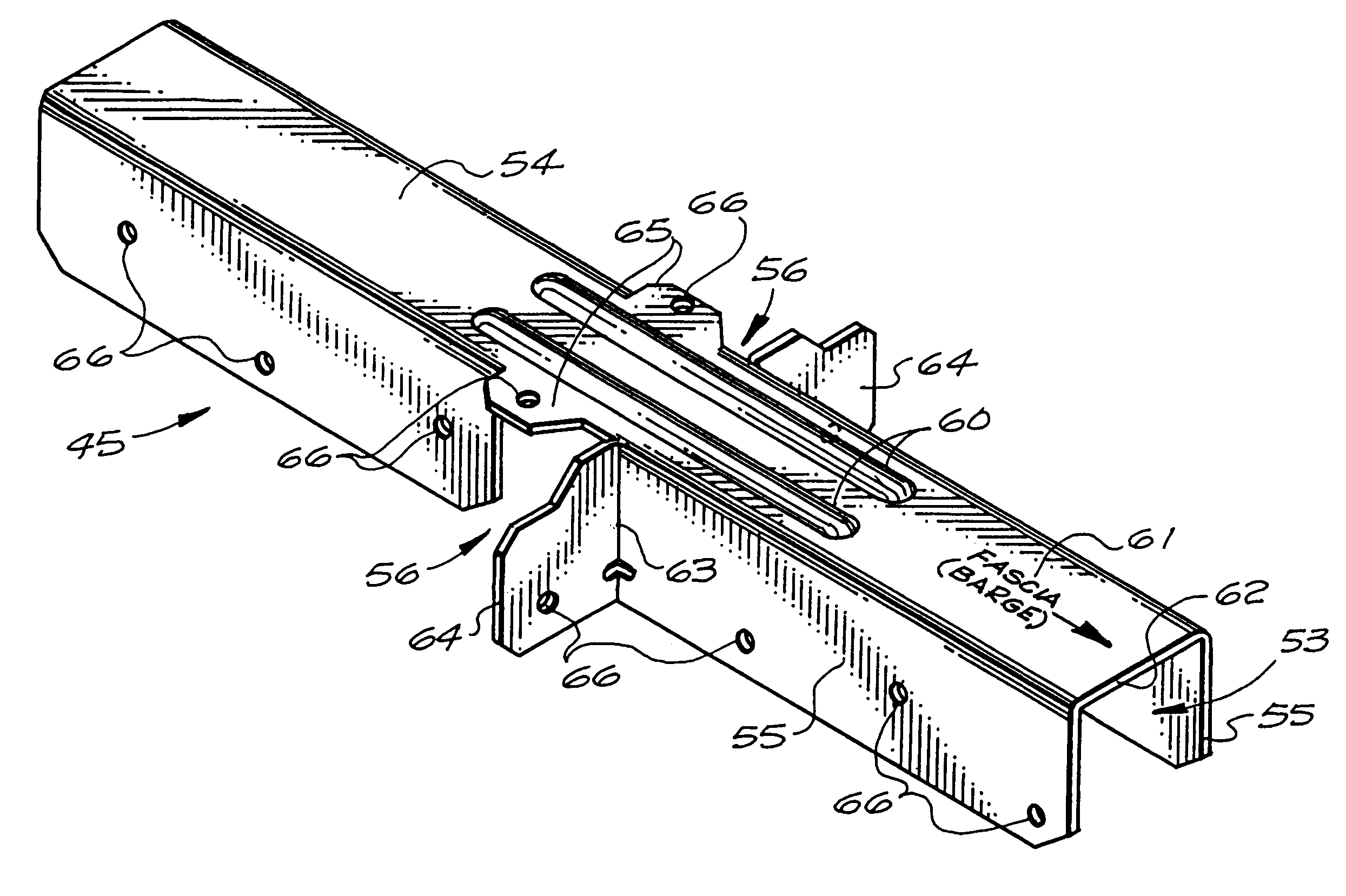 Patent Us6209268 Overhang Support System For Gable Roofs