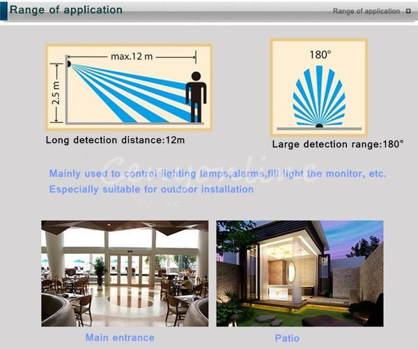 حساس الحركة لتشغيل وإطفاء إنارة المنزل Motion Sensor البوابة الرقمية Adslgate Pergola Outdoor Structures Fill Light