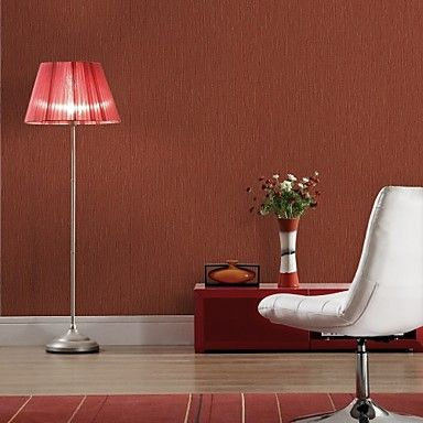 Modern Red Stripe Non-woven Wall Paper – CAD $ 59.84