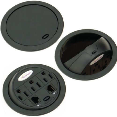 Six Usb Amp Power Grommets For The Desk And Kitchen Desk
