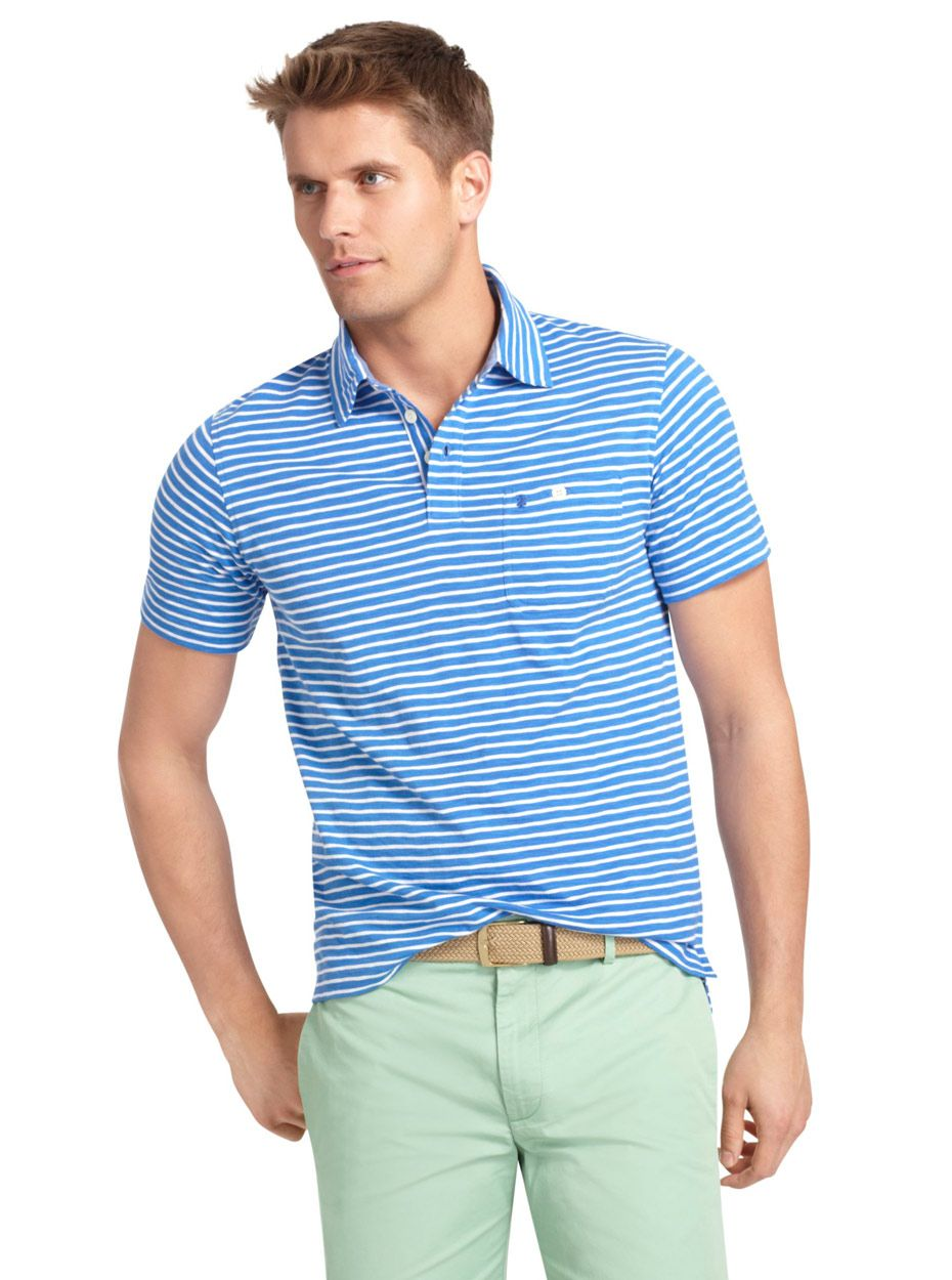bf7649c548 Izod | Slim Fit Striped Jersey Polo | Golf Style in 2019 | Polo ...