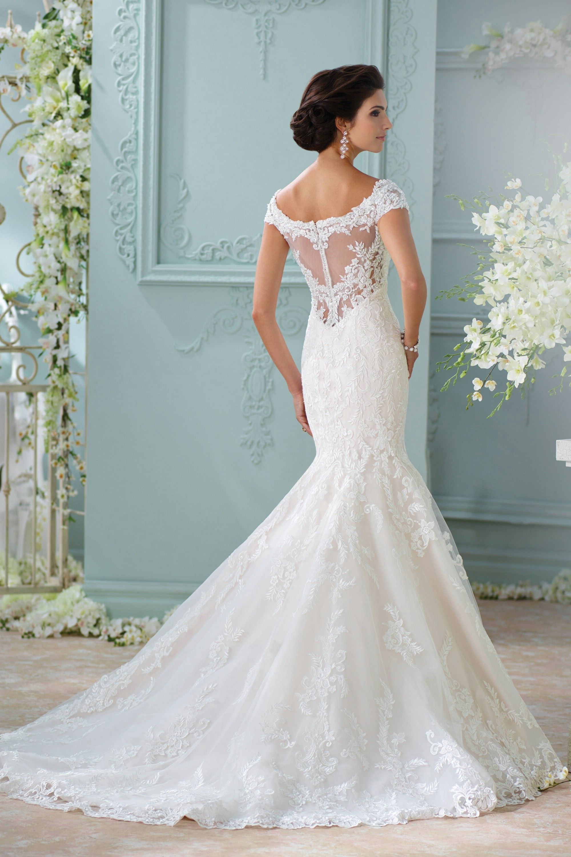 Wedding dress without train  Ivory Off The Shoulder Chapel Train Lace Trumpet Mermaid Wedding