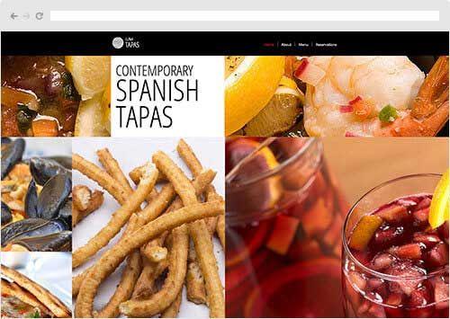 tapas restaurant website template