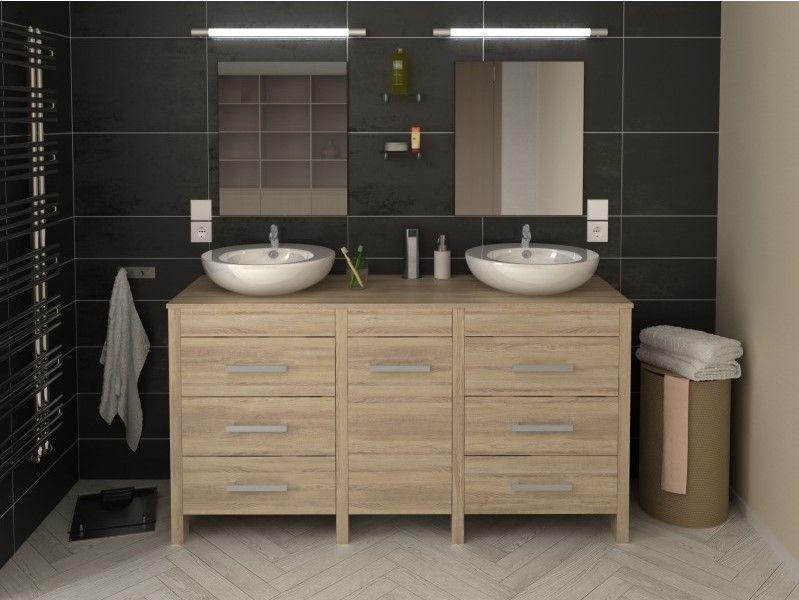 Ma Maison Mes Tendances Meuble de salle de bain Hero double vasque - leroy merlin meuble salle de bain neo