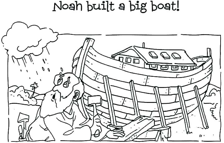 17++ Noah building the ark coloring page download HD
