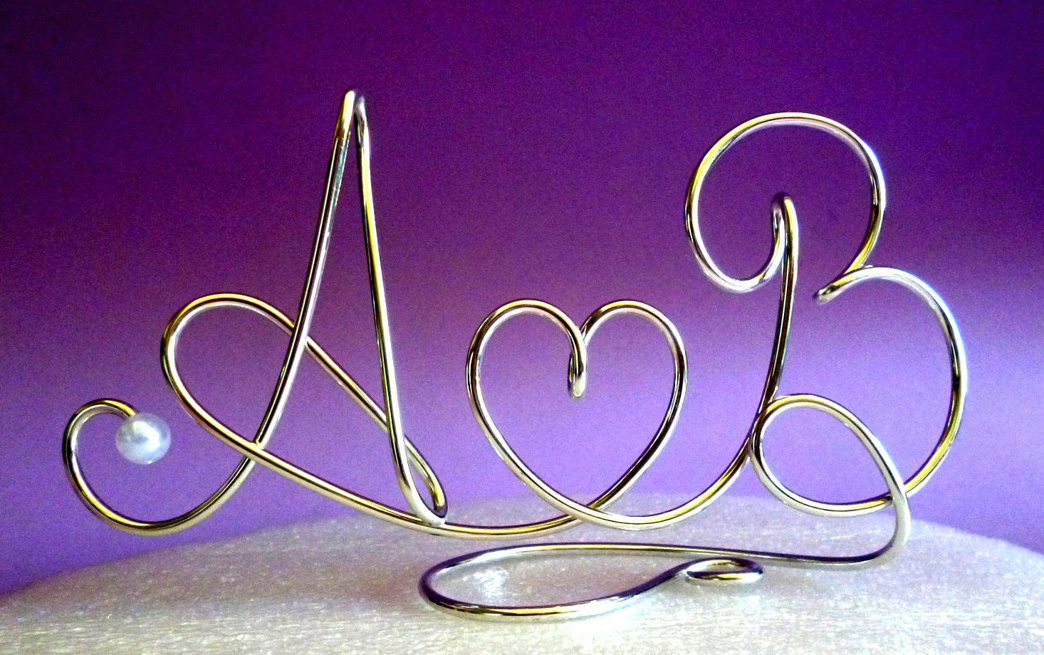 Cake Toppers Monogram Silver Set Individual by CreativeStamps, $25.00