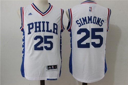 Men's Philadelphia 76ers #25 Ben Simmons Black With White Stitched NBA Adidas Revolution 30 Swingman Jersey