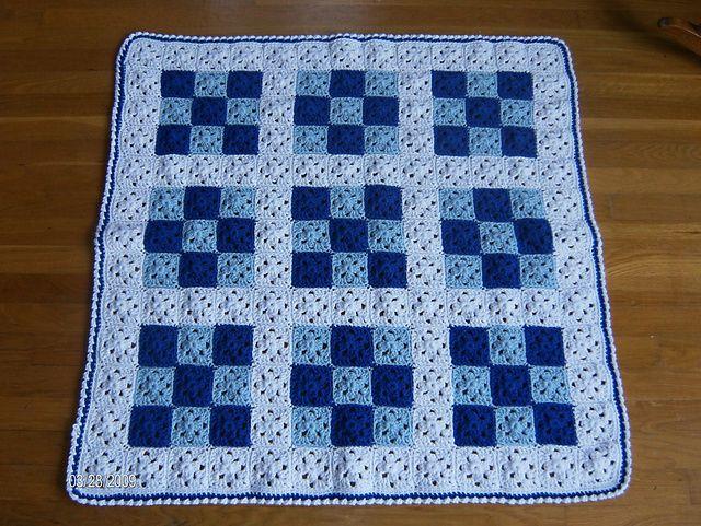 Ravelry: Baby Nine Patch Crochet Quilt pattern by Melanie ... : crochet quilt pattern - Adamdwight.com