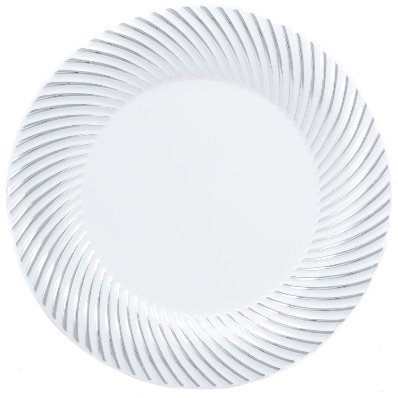 Plastic 10 1/4 Inch White Dinner Plate with Silver Rim/Case of 120  sc 1 st  Pinterest & Plastic 10 1/4 Inch White Dinner Plate with Silver Rim/Case of 120 ...