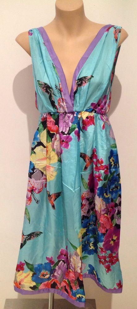Peter Alexander Size S stunning floral silk nightie BNWOT.