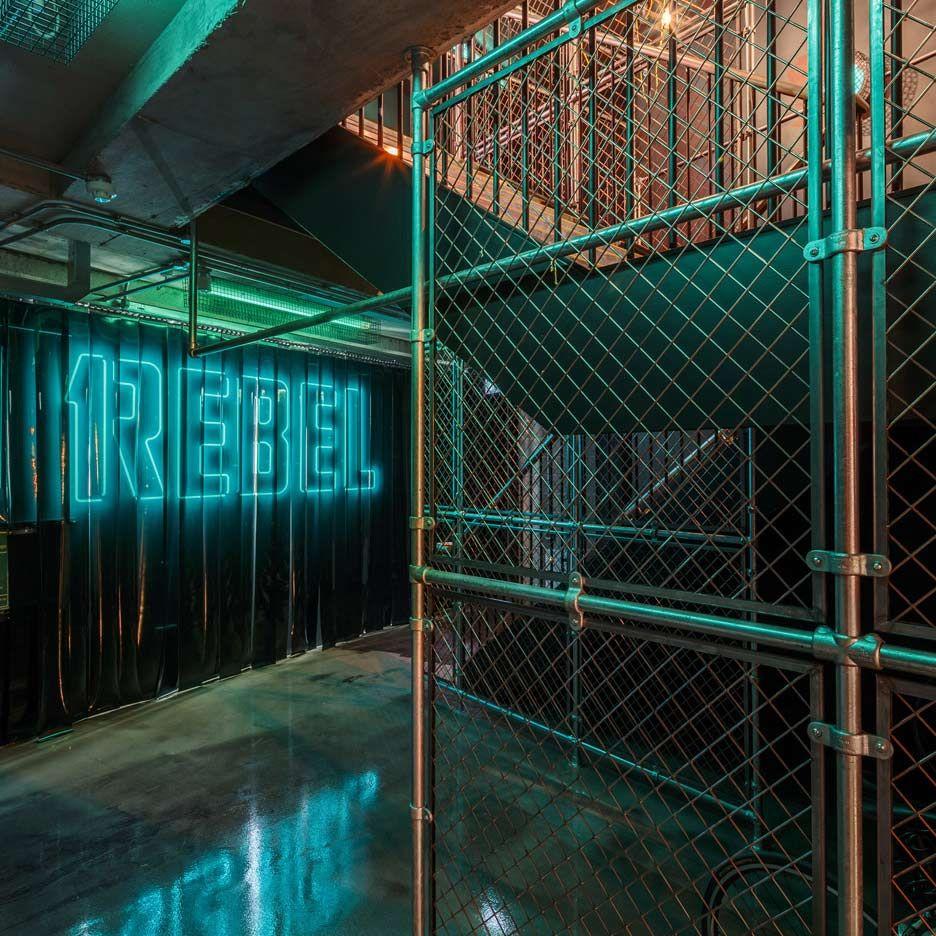 Lights The Garage London: 1Rebel Gym London, Designed To Look Like A Nightclub By