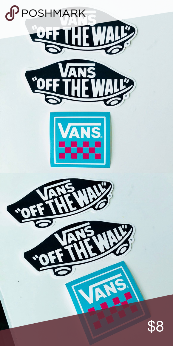 2133c3b0cec0 Vans Stickers 3 Pack Vans Stickers 3 Pack New, Never Used ⚡️WILL SHIP IN