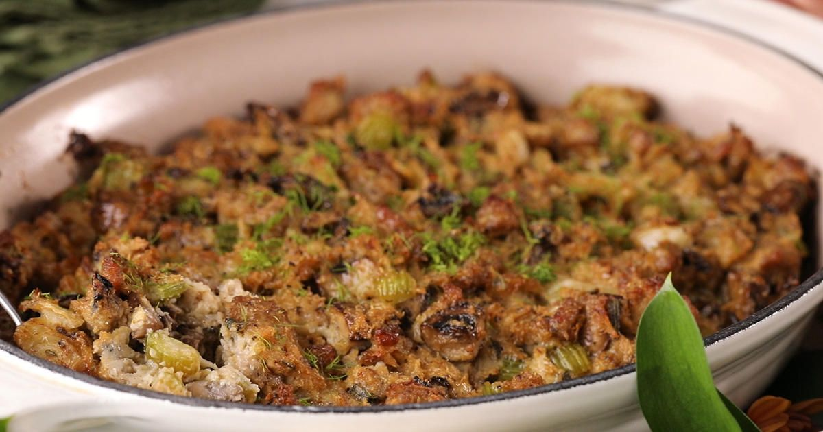 This Keto Stuffing Recipe Uses Pork Sausage and Cauliflower Rice #porksausages