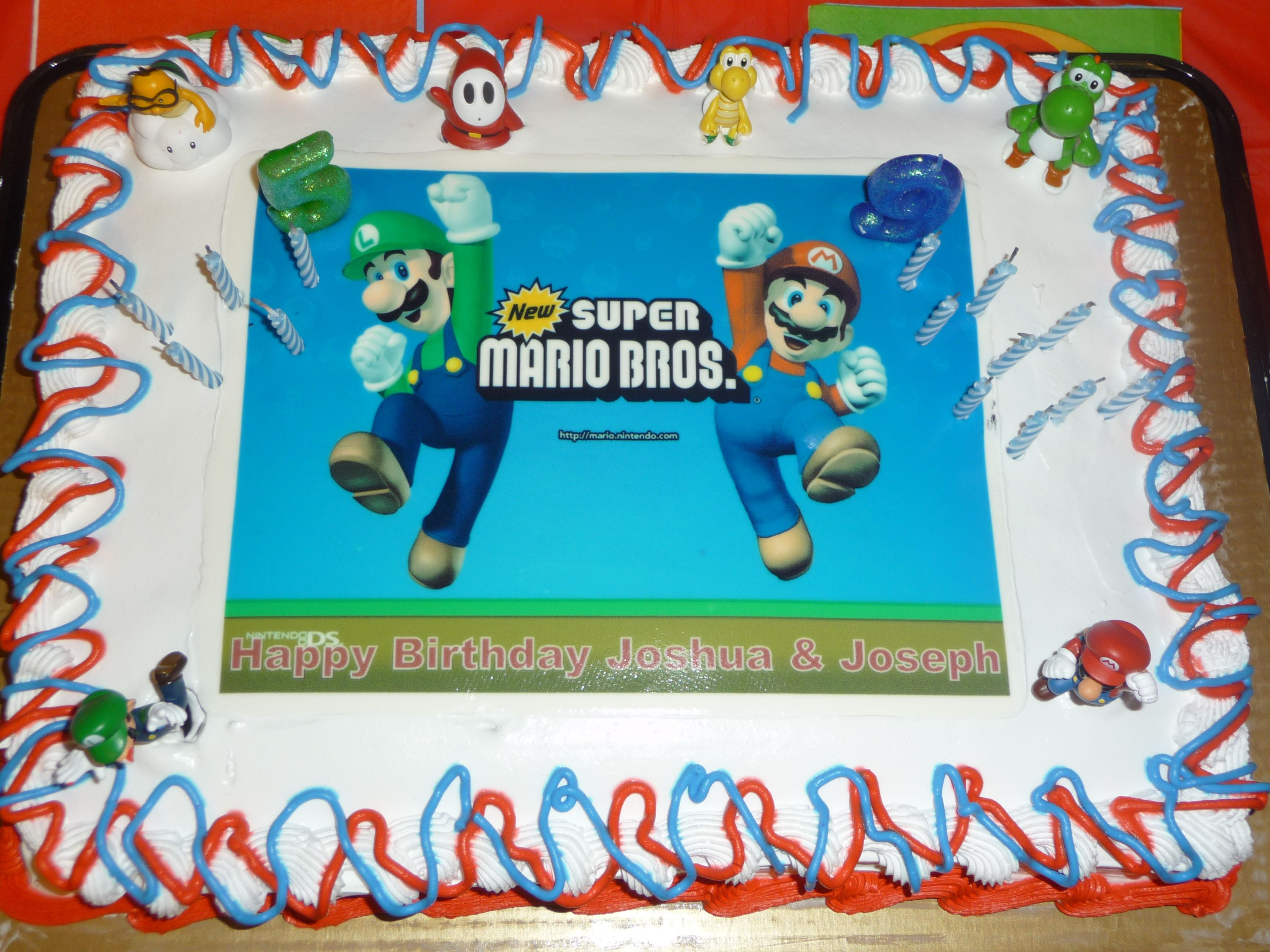 12 Sheet Cake from BJs I bought an edible picture of the Mario