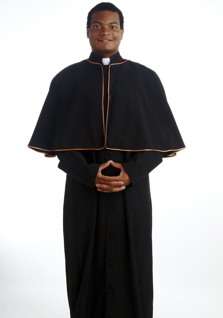 ab50491baad30 196 M. Men's Black Pastor/Clergy Robe With Cape in 2019 | Clergy ...