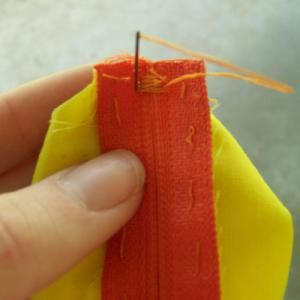 Make a Change Purse - DIY Change Purse Tutorial: Trim the Zipper