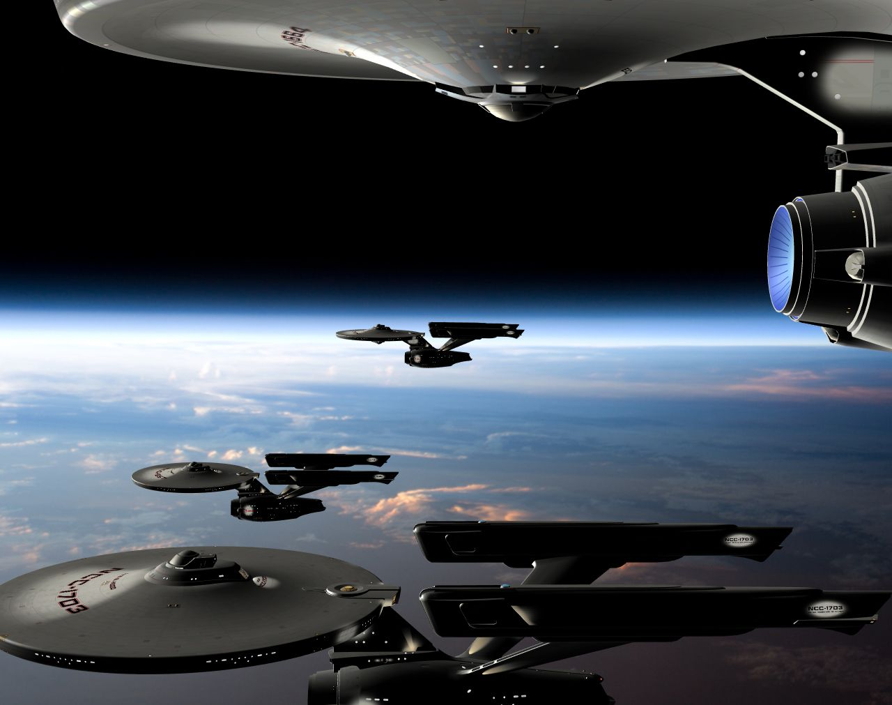#STARFLEET INTELLIGENCE: Federation #starships in orbit ...
