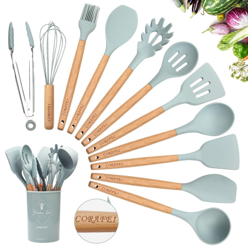 Kitchen Utensil Set Silicone Cooking Utensils 11 1 Pieces Cooking Spatula Turner Heat Resistant To Silicone Cooking Cooking Spatula Silicone Cooking Utensils