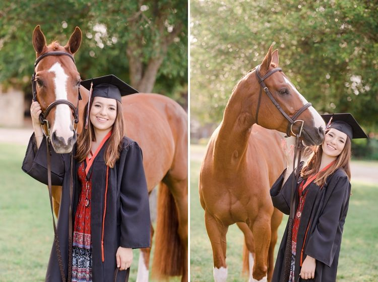 Victoria Leen Class Of 2017 With Her Apha Aqha Gelding Im Seein Doubl Aphaaqha C In 2020 Horse Senior Pictures Cap And Gown Pictures Graduation Pictures