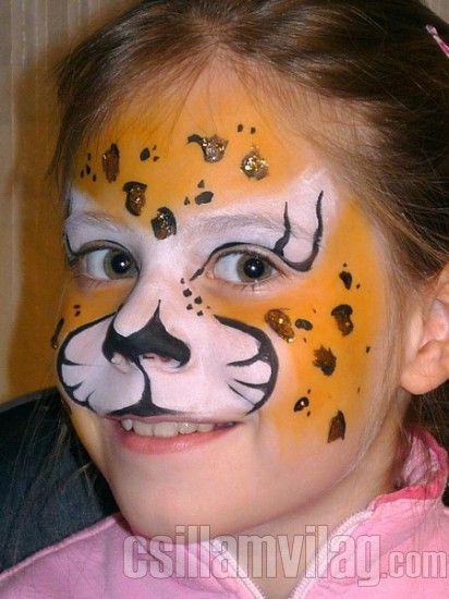 Leopárd arcfestés 7 lépésben