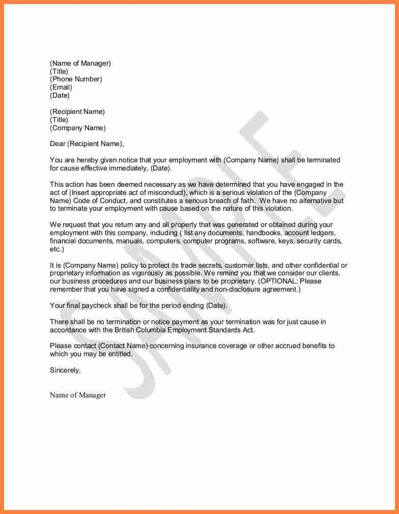Letter termination sample invoice example print your business letter termination sample invoice example print your business letterhead date private and confidential insert spiritdancerdesigns Images