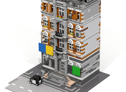 Emmet S Apartment Building From The Lego Movie Modular Apartment Building Lego City Building