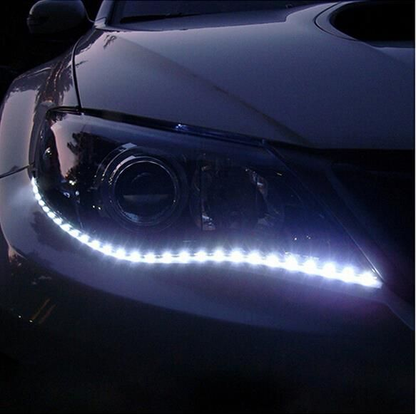 Automotive Led Light Strips Glamorous 1 Par Carstyling Car Auto Decoración Tira Llevada Flexible 12 V 30 Decorating Design