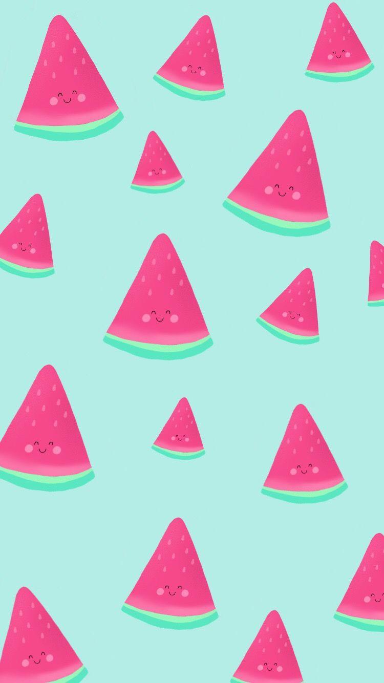 Free Phone Wallpaper By Nutmeg And Arlo Cute Kawaii Watermelon