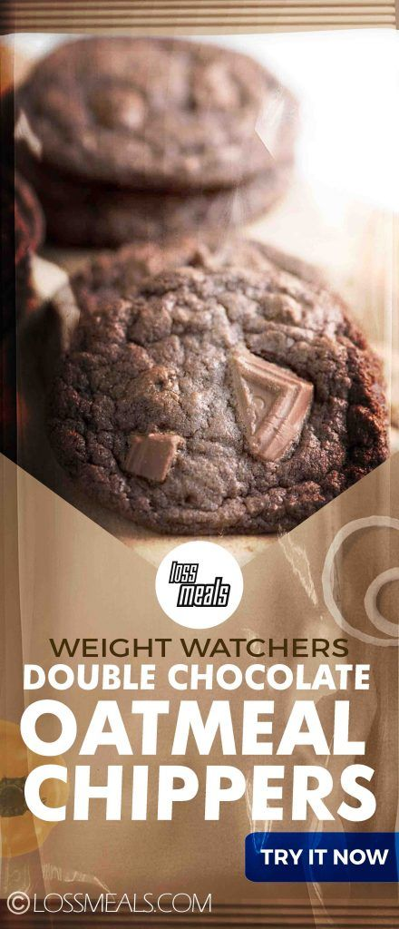 Skinny Double Chocolate Oatmeal Chippers Gluten Free | loss MEALS #hearthealthydesserts