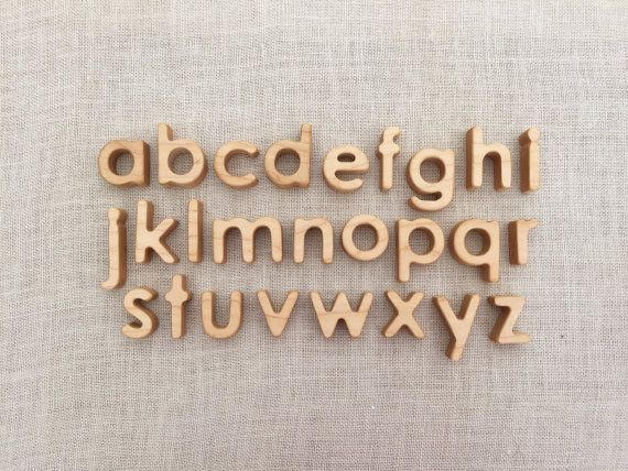Lowercase Alphabet Letters Heirloom Hardwood Set Ideen