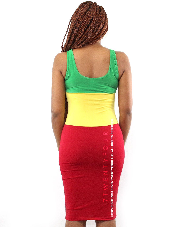 Rasta Color Block Dress   Trendy Womenu0027s Clothing   7twentyfour.com
