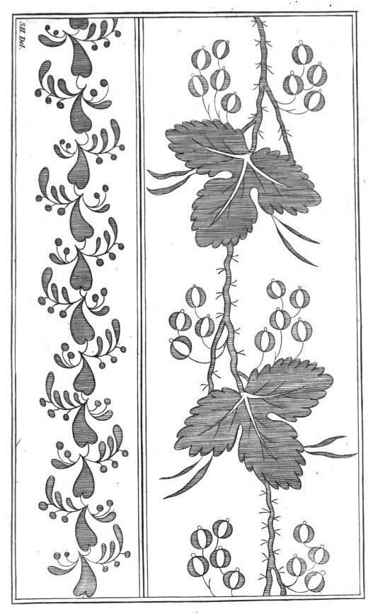 Embroidery Pattern for Muslin, La Belle Assemblee, 1819