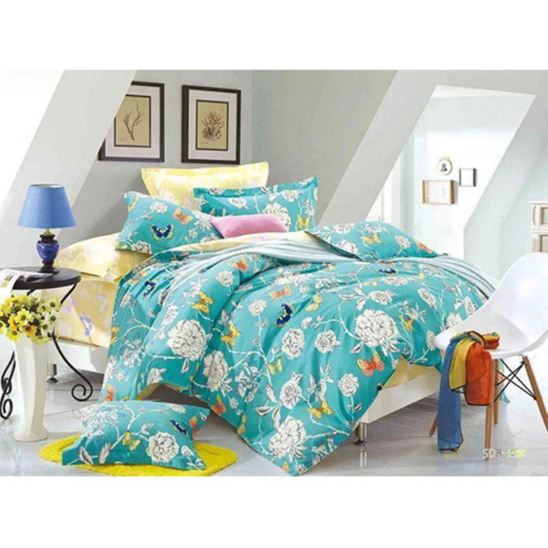 Aqua And Lime Green Bedding