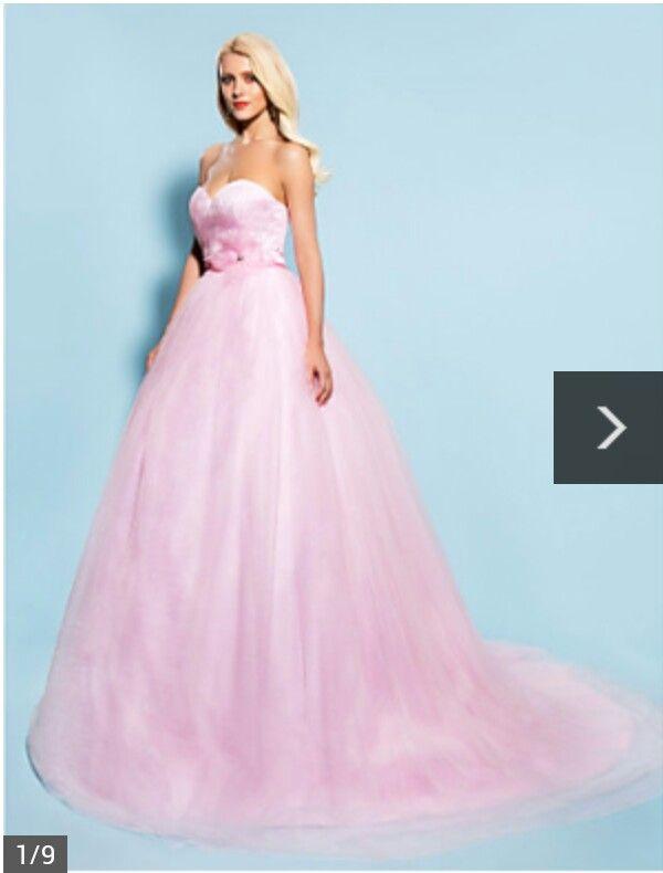 Pink wedding dress | Wedding | Pinterest
