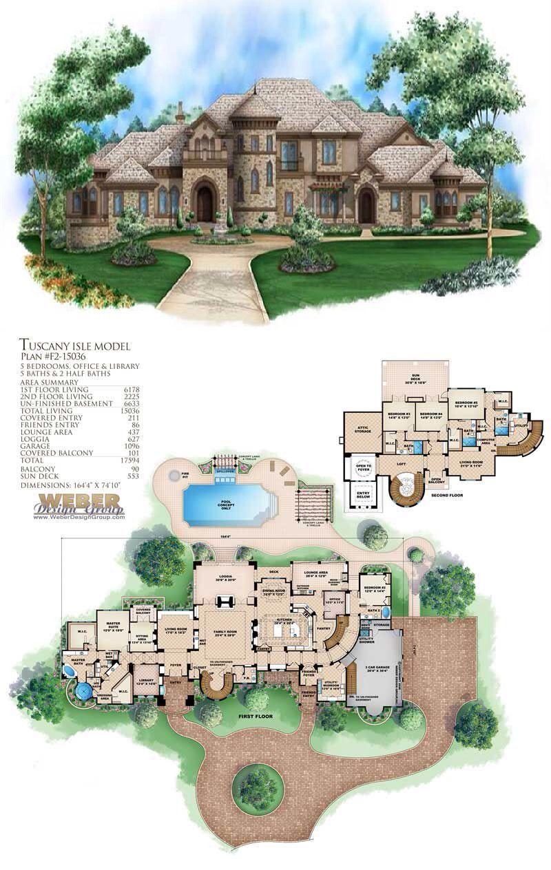 Tuscan House Plans Home Design Wdgf2 15036 Tuscan Design Tuscan House Tuscan House Plans