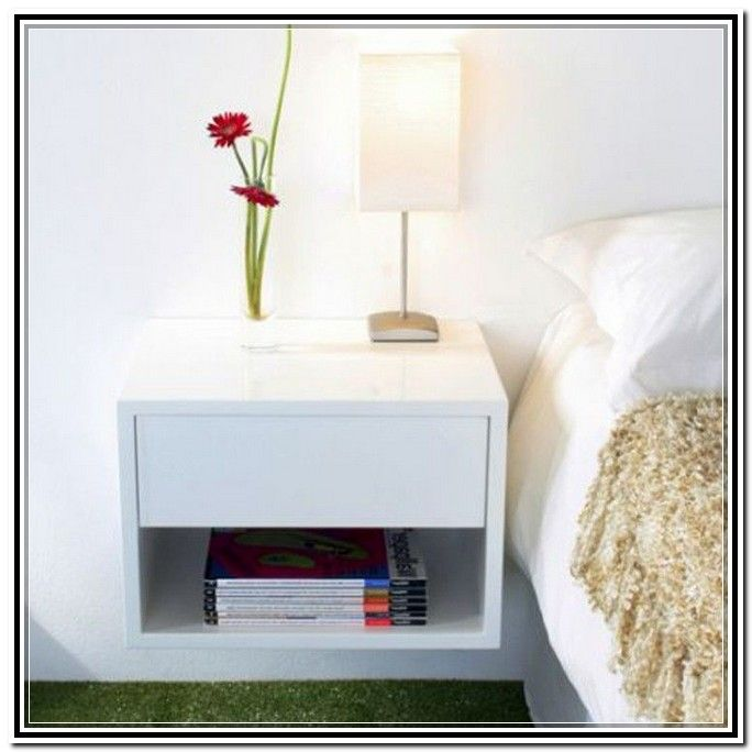 Wall Mounted Nightstand Bedside Table Ikea Nightstand