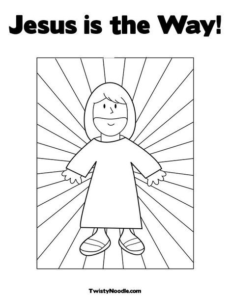 Great Jesus Is The Way Coloring Page From TwistyNoodle.com
