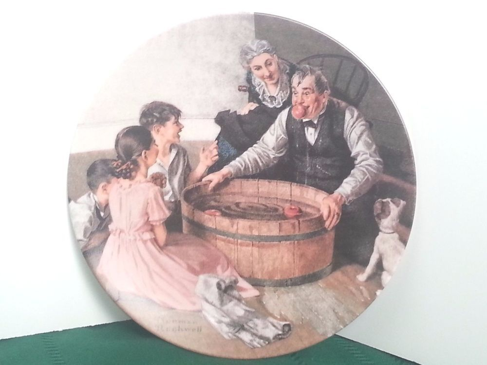 halloween frolic plate heritage collection norman rockwell knowles bradford coa knowlesbradfordexchange halloween