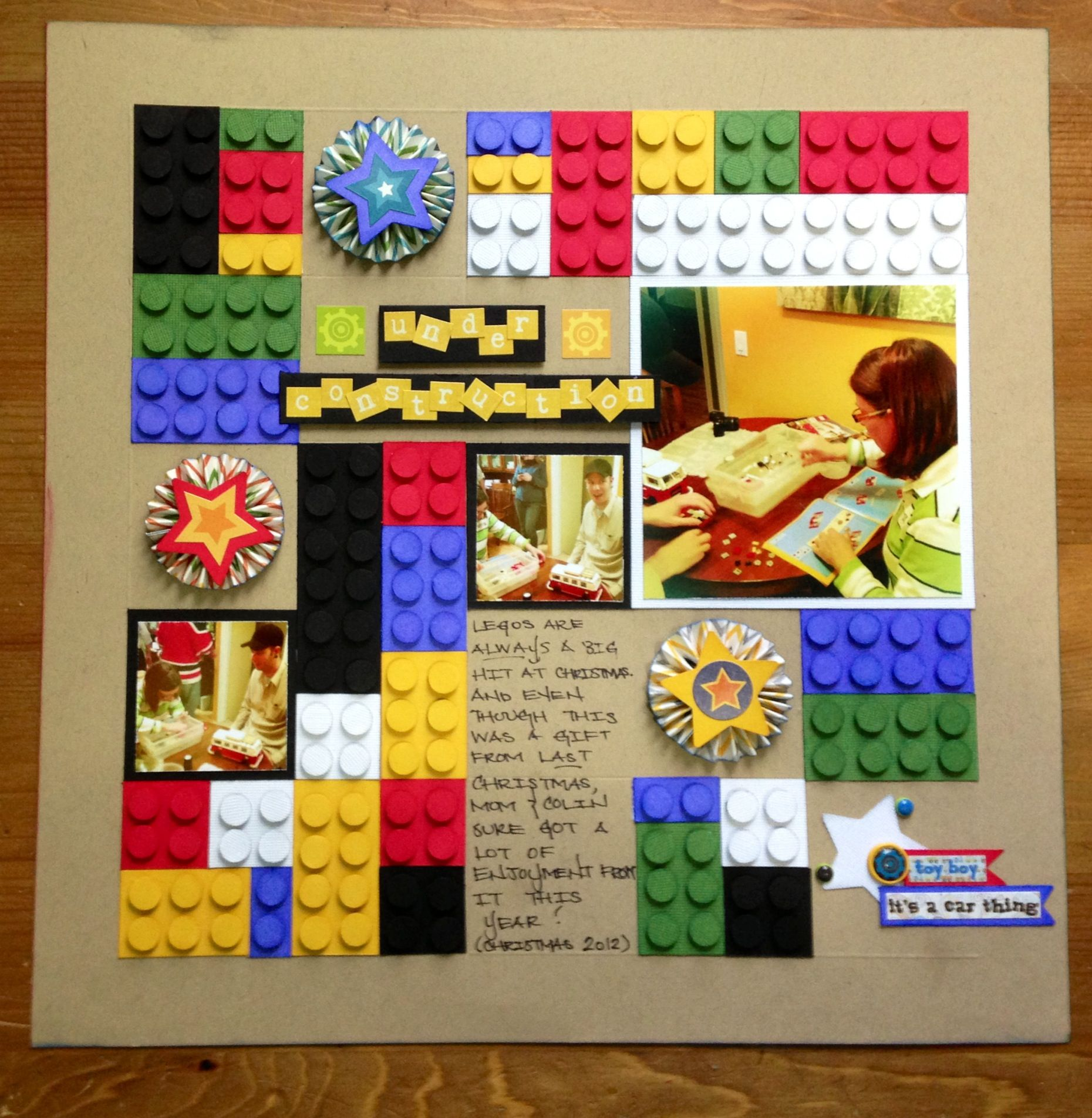 Scrapbook ideas for bff - Lego Scrapbooking Layout