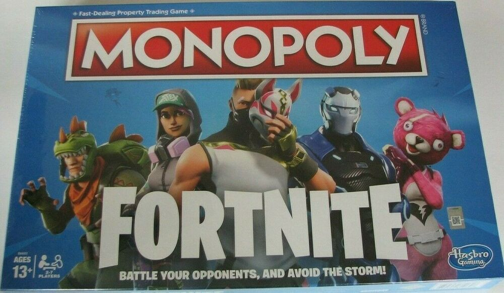 Fortnite Monopoly Hasbro Fast Dealing Property Trading Game Ages 13 New In Box Fortnite Monopoly Game Board Games Fortnite Monopoly