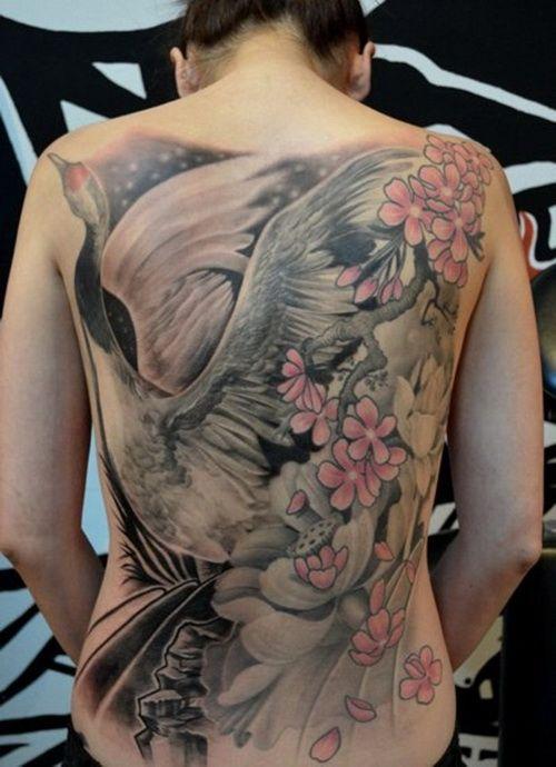 Full Back Tattoos Tattoos Designs Japanese Tattoo Japanese Tattoo Designs Crane Tattoo
