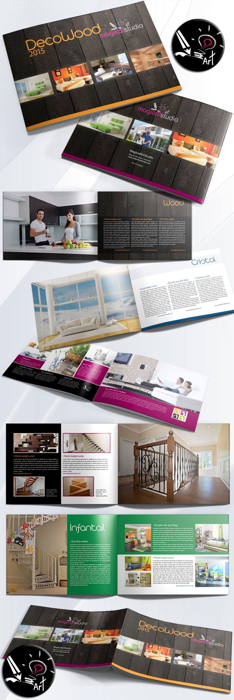 Plantilla Gratuita Catálogo Decoración Interiorismo Indesign ...