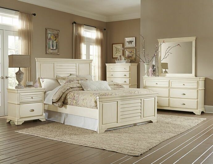 Home Elegance 1846-5PC 5 pc laurinda collection antique white finish