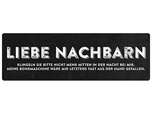 liebe nachbarn t rschild klingelschild nachbarschaft. Black Bedroom Furniture Sets. Home Design Ideas